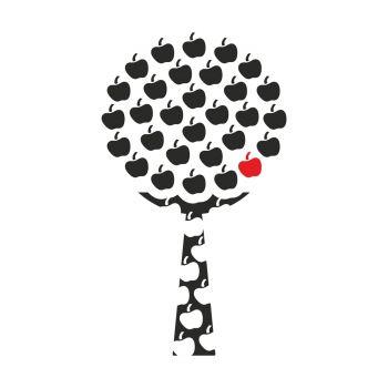 Vinilo decorativo Apple Tree