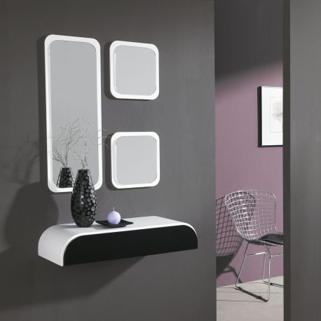 Conjunto de consola y espejo de quad for Espejos para consolas