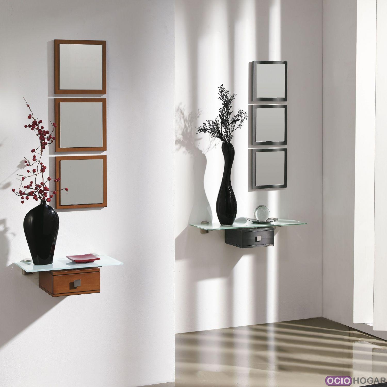 Recibidor aircrystal muebles que flotan en tu entrada for Espejos grandes para recibidor