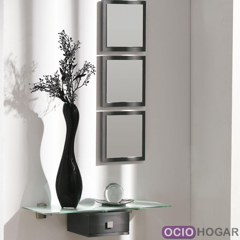 Recibidor aircrystal muebles que flotan en tu entrada for Conforama espejos de pared