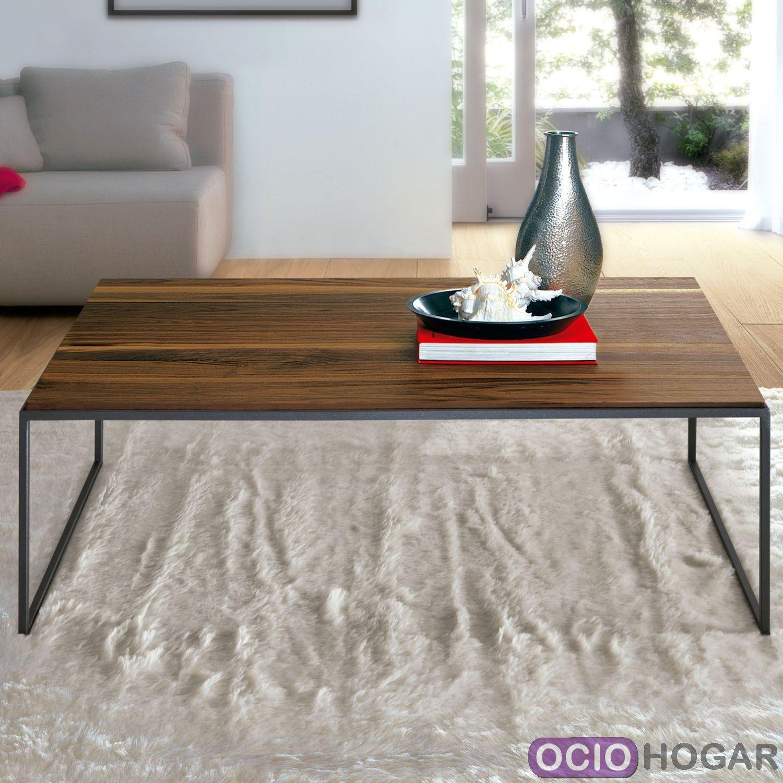 Mesa Puzzle, madera y metal - OcioHogar.com