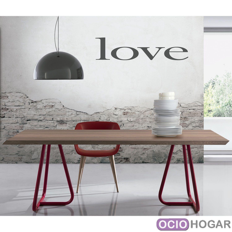 Mesa pilar en madera y patas en barras met licas for Patas de mesa metalicas