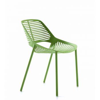 Niwa, silla en aluminio inoxidable ideal para espacios exteriores