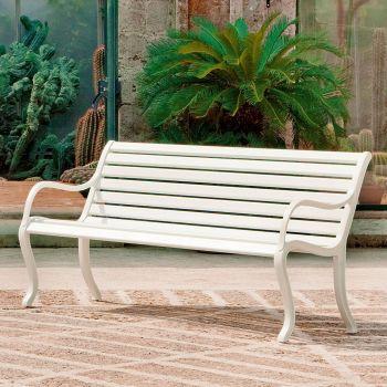 Oasi, un banco de estilo clásico para jardín