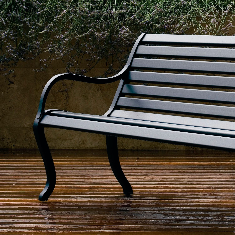 Oasi de fast bancos de aluminio para exterior for Banco exterior jardin