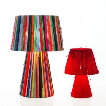 Shoelaces, lámpara de fabricación artesanal fabricada con cordones