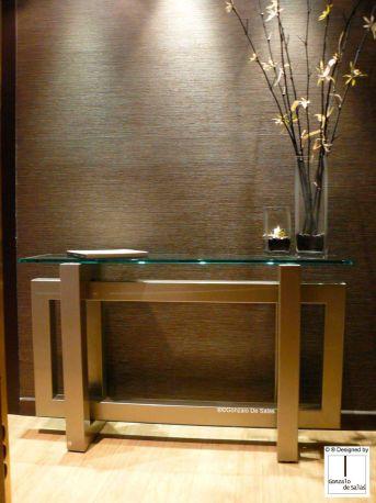 Consola THASOS 130x36x78 cm Gris champán de Gonzalo de Salas