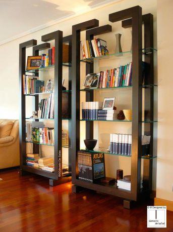 Librería ISIS 214x117x45 cm en óxido oscuro
