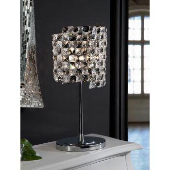 Lámpara de sobremesa Satén, lujosa asimetría