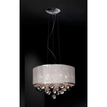 Andrómeda 6L, una constelación de acero para iluminar tu salón