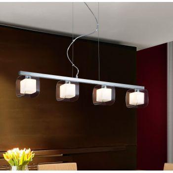 Cube 4L, lámpara con cuatro tulipas para los amantes del cubismo