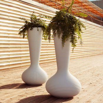 Maceta de diseño de la colección Bloom, una escultura con formas orgánicas llena de vida