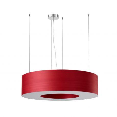 Lámpara diseño Saturnia Luzifer Mediana Roja