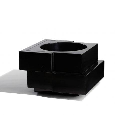 Maceta diseño Cubic Yo Slide Design en negro