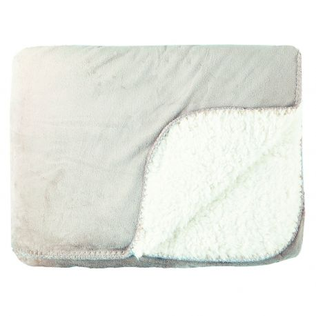 Manta Milton borreguito sofá gris