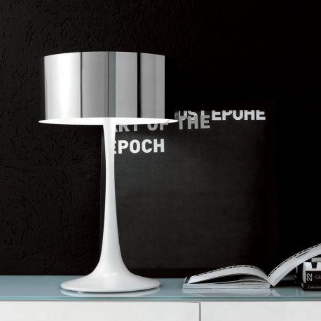 Lámpara de mesa Pluto Cattelan Italia con base en blanco