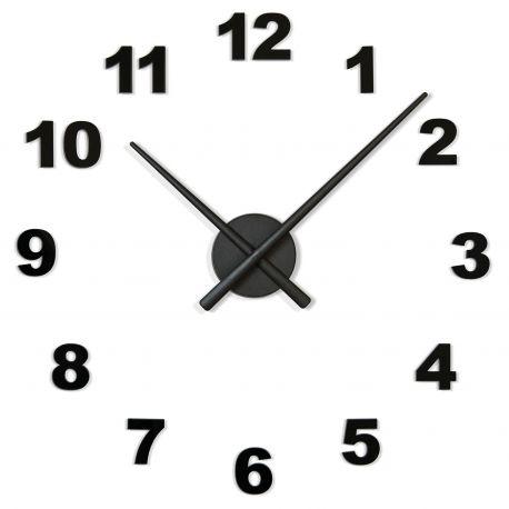 Reloj de pared OJ Números Nomon negro