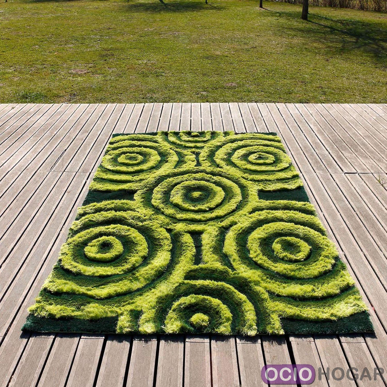 Alfombra moderna 3d bubbles verde carving - Carving alfombras ...