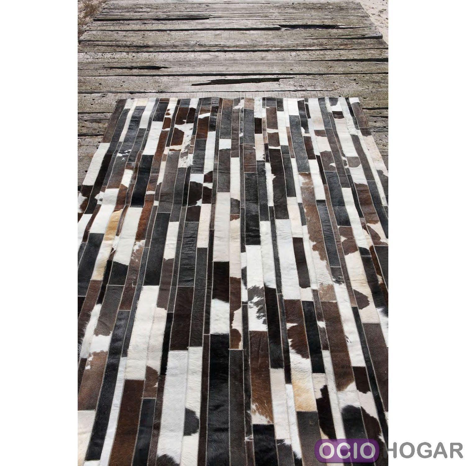 alfombra moderna piel stripes carving