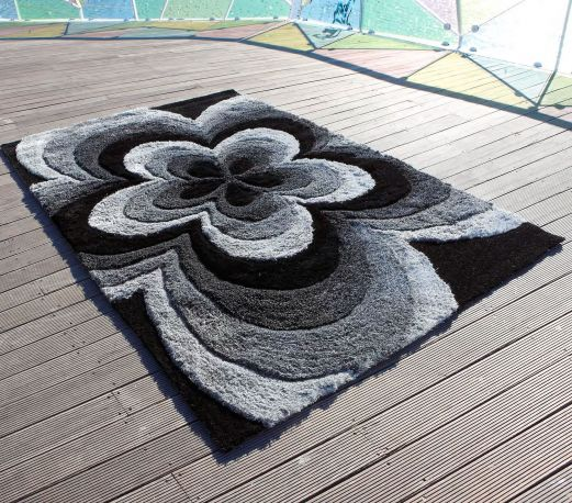 Alfombra moderna Rose 3D Carving