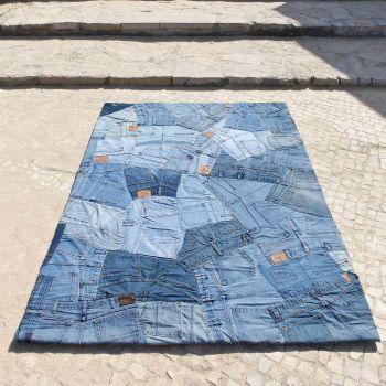 Alfombra moderna Jeans Back