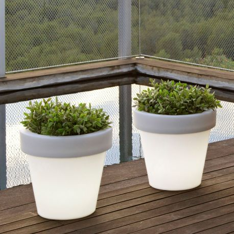 Maceta con luz magnolia light new garden - Macetas con luz ...