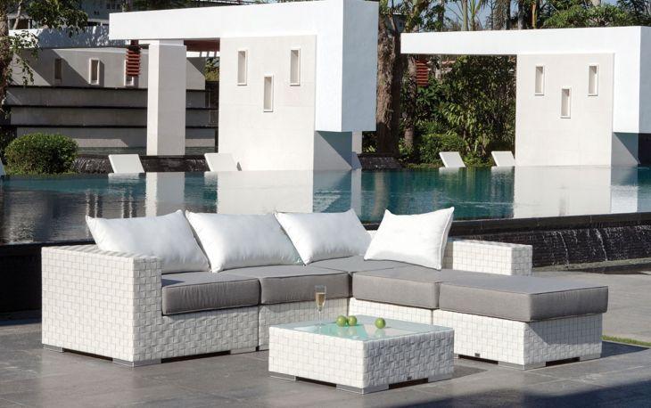 Sof modular y mesa de jard n bah a majestic garden for Sofa modular jardin