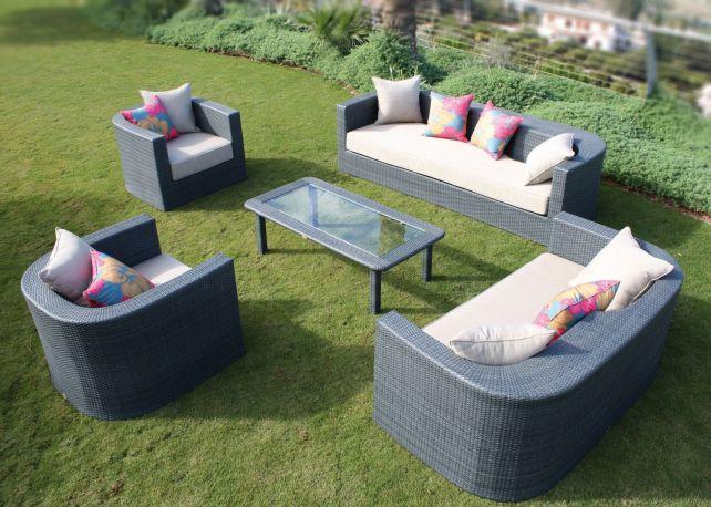 conjunto de sofs y sillones de exterior venus - Sillones Exterior