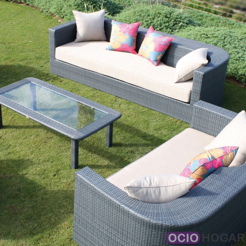 Conjunto exterior sof s sillones y mesa venus majestic for Conjunto de sofas para exterior