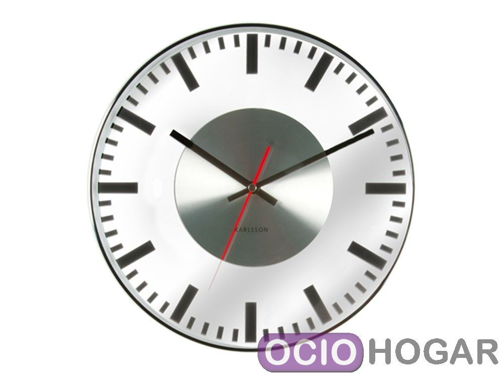 reloj de pared glass