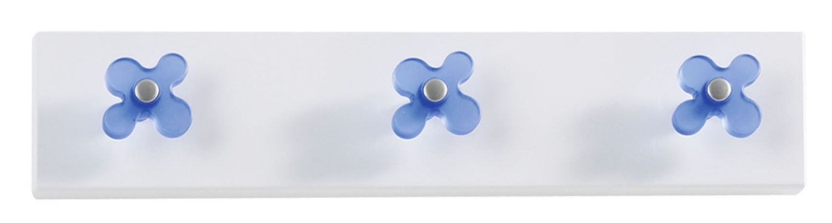 Perchero de pared Flor de Dissery. Azul
