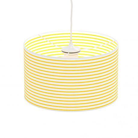 Lámpara de techo Lollypop de Moti. Raya amarilla