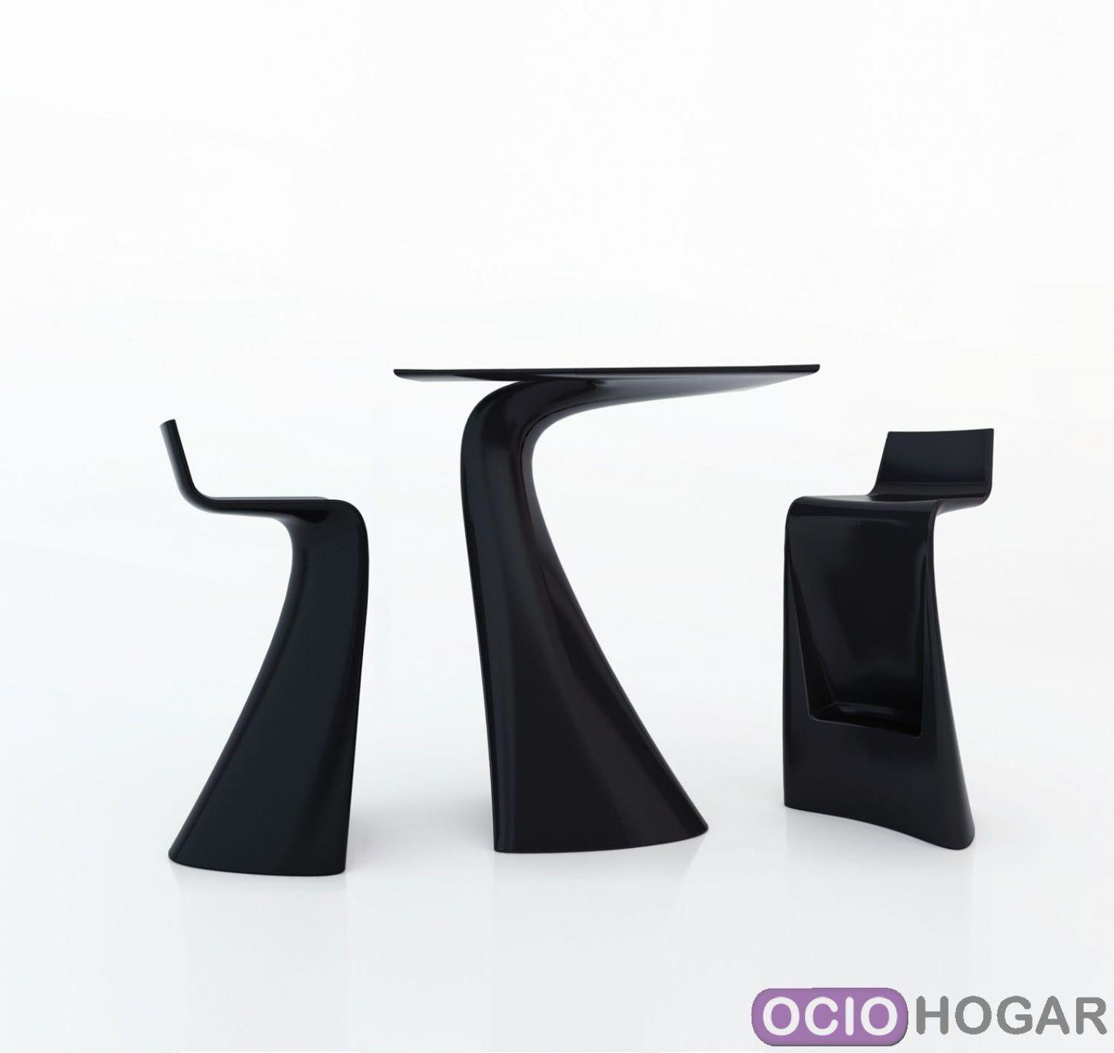 Mesa alta y taburetes wing de vondom - Mesa alta con taburetes ...