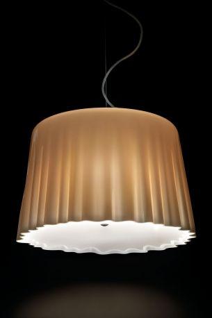 Lámpara Cloth de Vistosi. Aspecto encendido (ON)