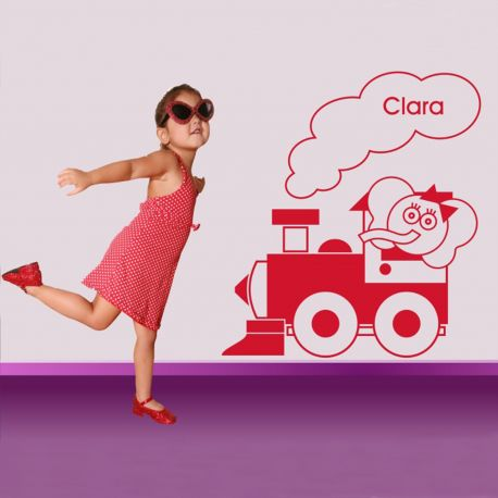 Vinilo decorativo infantil Locomotora Elefantuca de DEKOTIPO