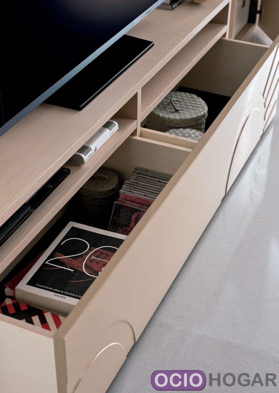 Mueble de tv megaa de clara home en for Mueble bano madera clara